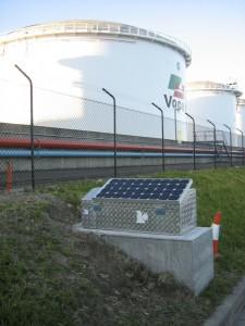 Seismograph hut gas tank