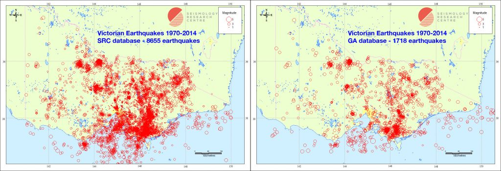 Victorian Earthquakes 1970-2014