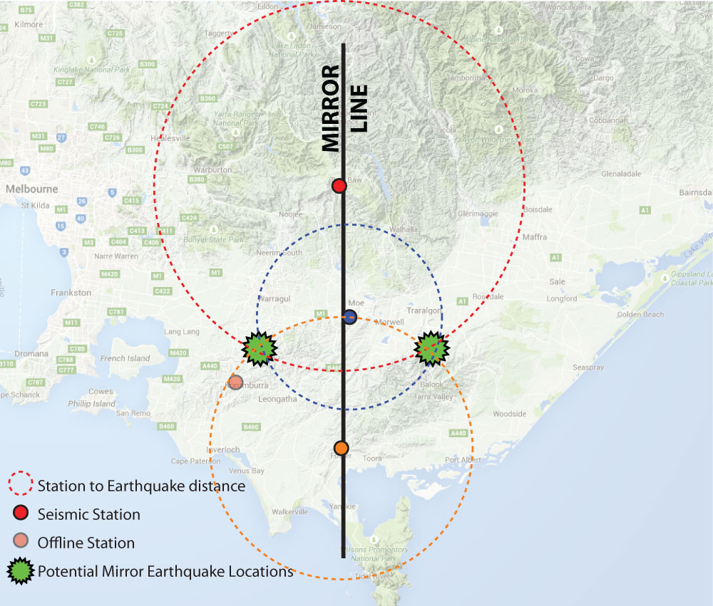 Setting Up An Earthquake Monitoring Network Seismology Research - Triangulating earthquakes blank us map