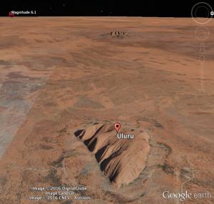 Uluru to earthquake