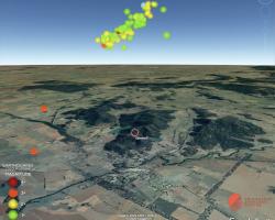 3D earthquake fault plane visualisation